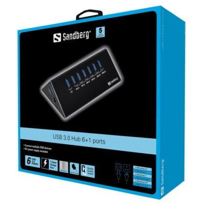 Sandberg USB 3.0 jakaja nopeisiin yhteyksiin
