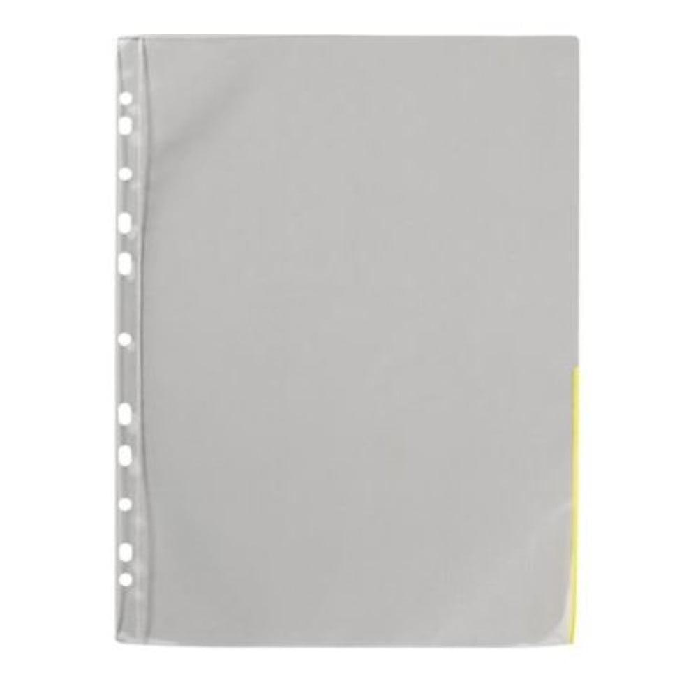 Signaalitasku A4 PP 120mic keltainen (100 kpl)