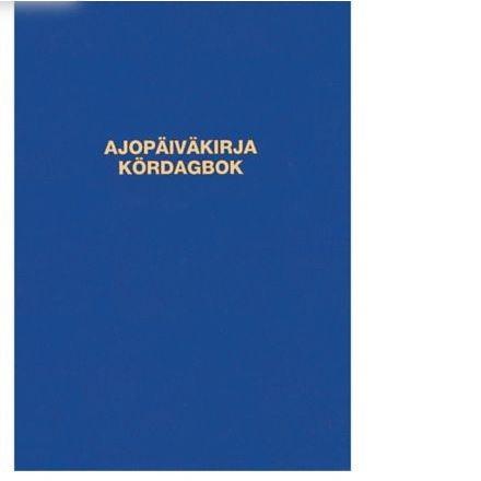 Ajopäiväkirja 187 nidottu A5A pysty 32 sivua