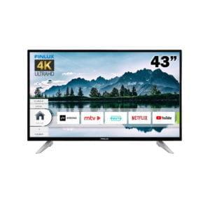 FINLUX 43″ 4K UHD SMART LED-TELEVISIO musta