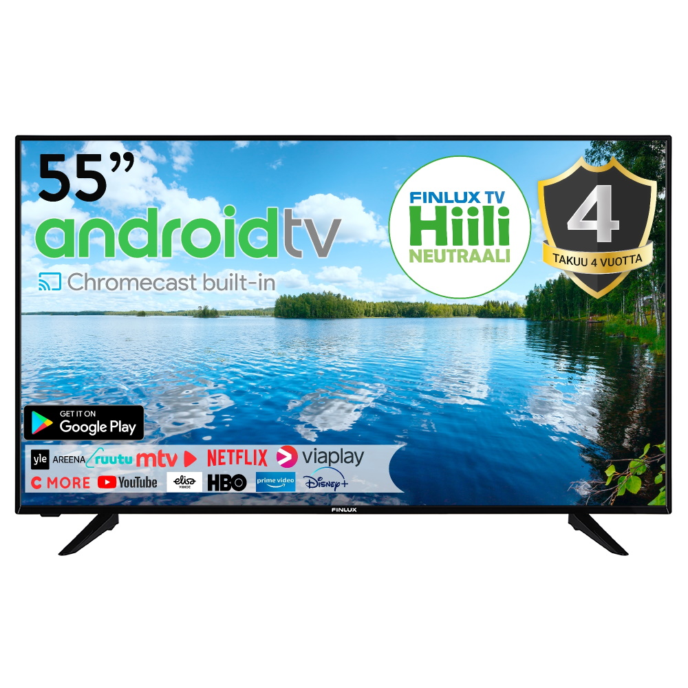 FINLUX 55″ 4K UHD ANDROID SMART-LED-TELEVISIO