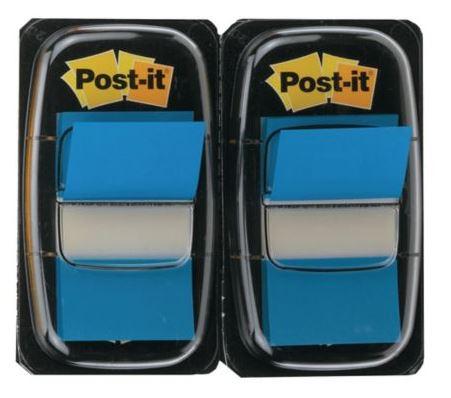 Post-it Index teippimerkki 25x44mm sininen (2 nidettä)