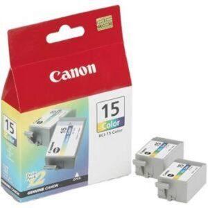 Canon BCI-15CL Twin-Pack kolmiväri tulostuskasetit