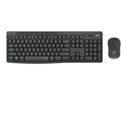 Logitech MK295 Silent langaton hiiri/näppäimistö musta
