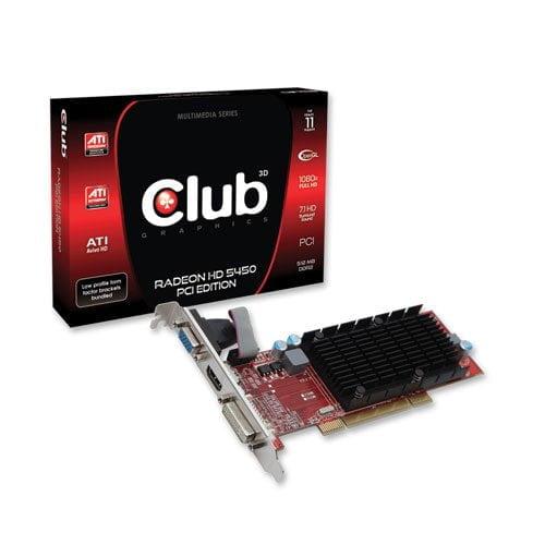 Club3D Radeon HD5450 PCI Edition -näytönohjain