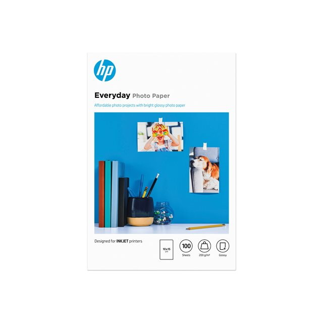 HP Everyday Photo Paper Glossy 10x15cm 200g/m2 (100)