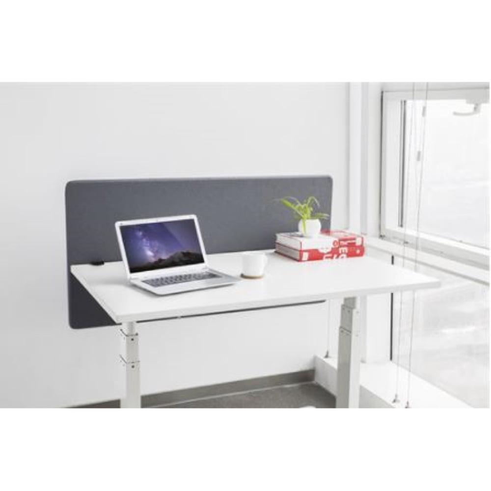 Deltaco Office työpöydän väliseinä 1200x600mm harmaa