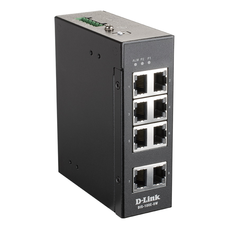D-Link DIS-100E-8W 8-porttinen verkkokytkin