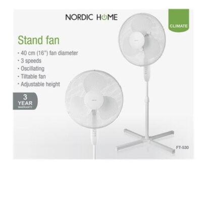 Nordic Home lattiatuuletin 50W valkoinen