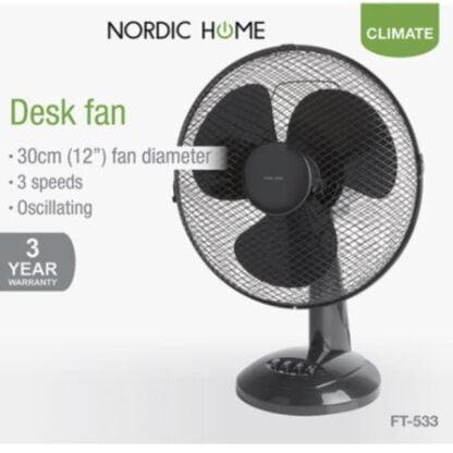 Nordic Home pöytätuuletin 40W musta