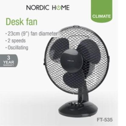 Nordic Home pöytätuuletin 20W musta