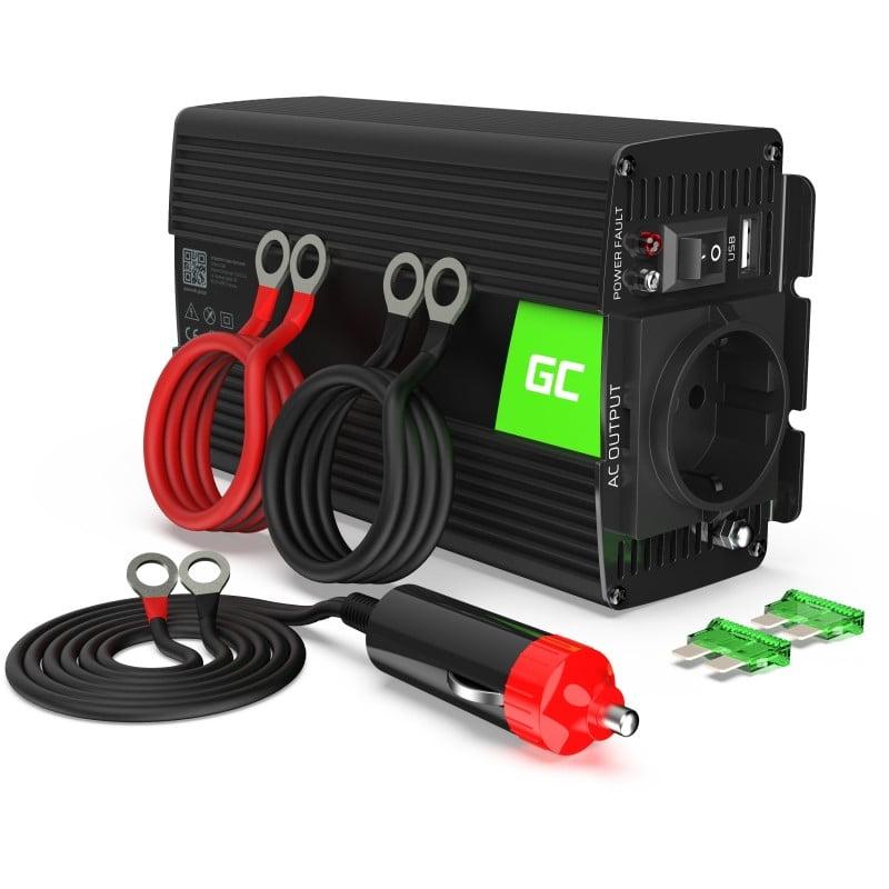 Green Cell car inverter 12V to 230V 300W/600W