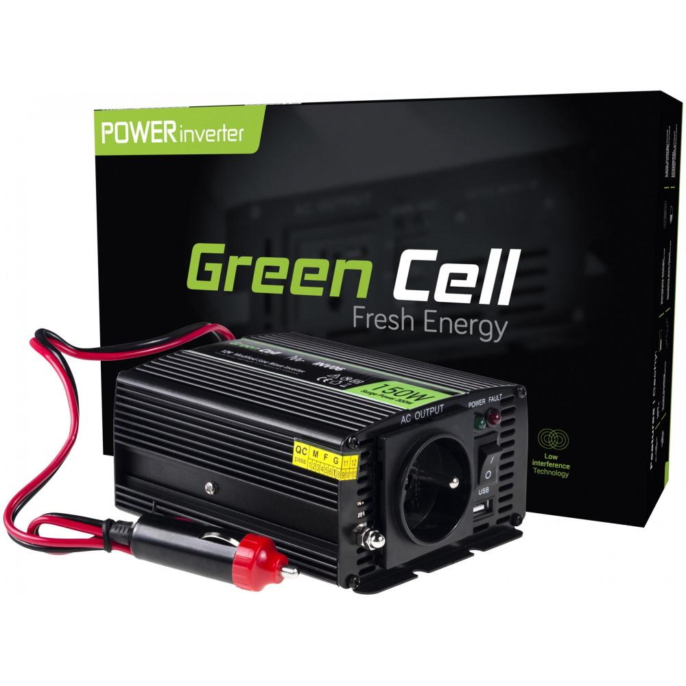 Green Cell car inverter 12V to 230V 150/300W