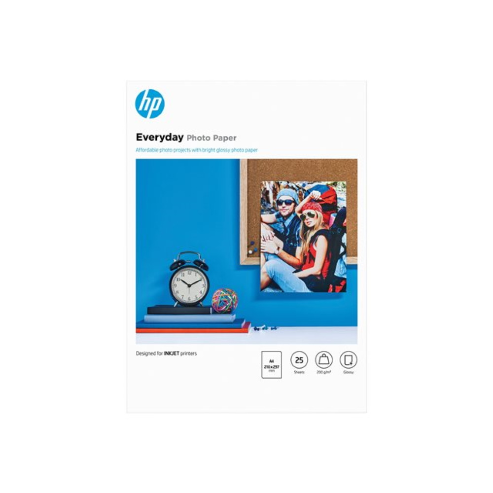 HP Everyday Glossy PhotoPaper A4 200g/m2 (25)