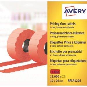 AVERY hintaetikettirulla 26*12mm pysyvällä liimalla pun