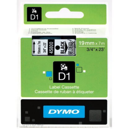 Dymo S0720820 D1 45800 Tape 19mm x 7m