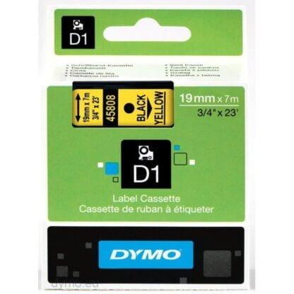 Dymo S0720880 D1 45808 Tape 19mm x 7m