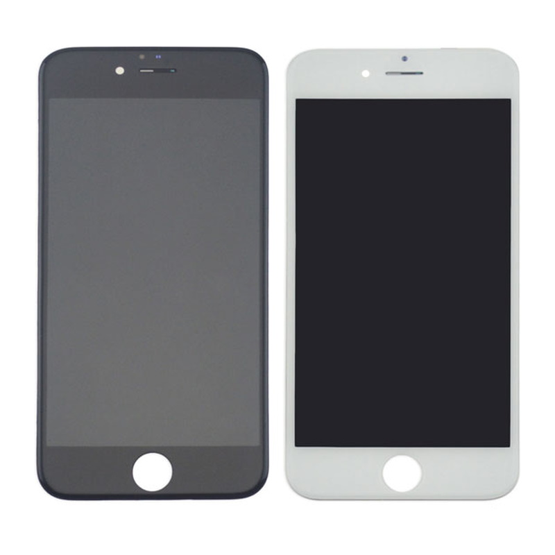 Korvaava iPhone 6S näyttö rungolla musta