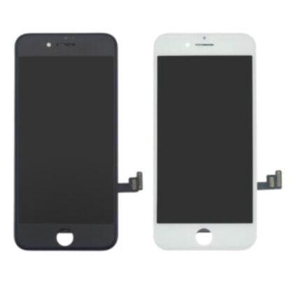 Apple iPhone 8 Plus näyttö rungolla alkuperäinen valkoinen
