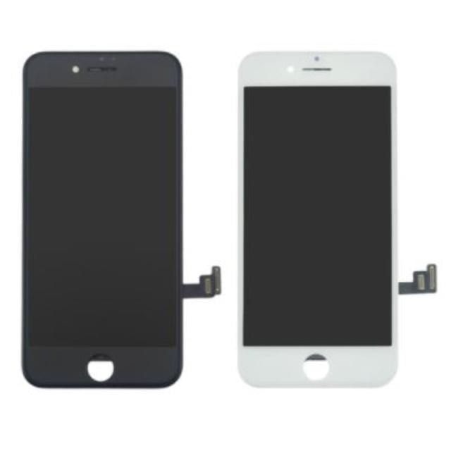 Korvaava iPhone 7 näyttö rungolla musta