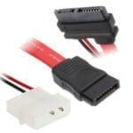 2-pin IDE+7-pin SATA -> 13-pin SATA, 45cm