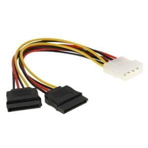 4-pin Molex – 2*SATA kaapeli