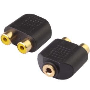 3,5mm AUDIO naaras – 2*RCA naaras adapteri