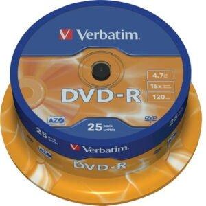 Verbatim DVD-R 16x 4,7GB/120min levypaketti