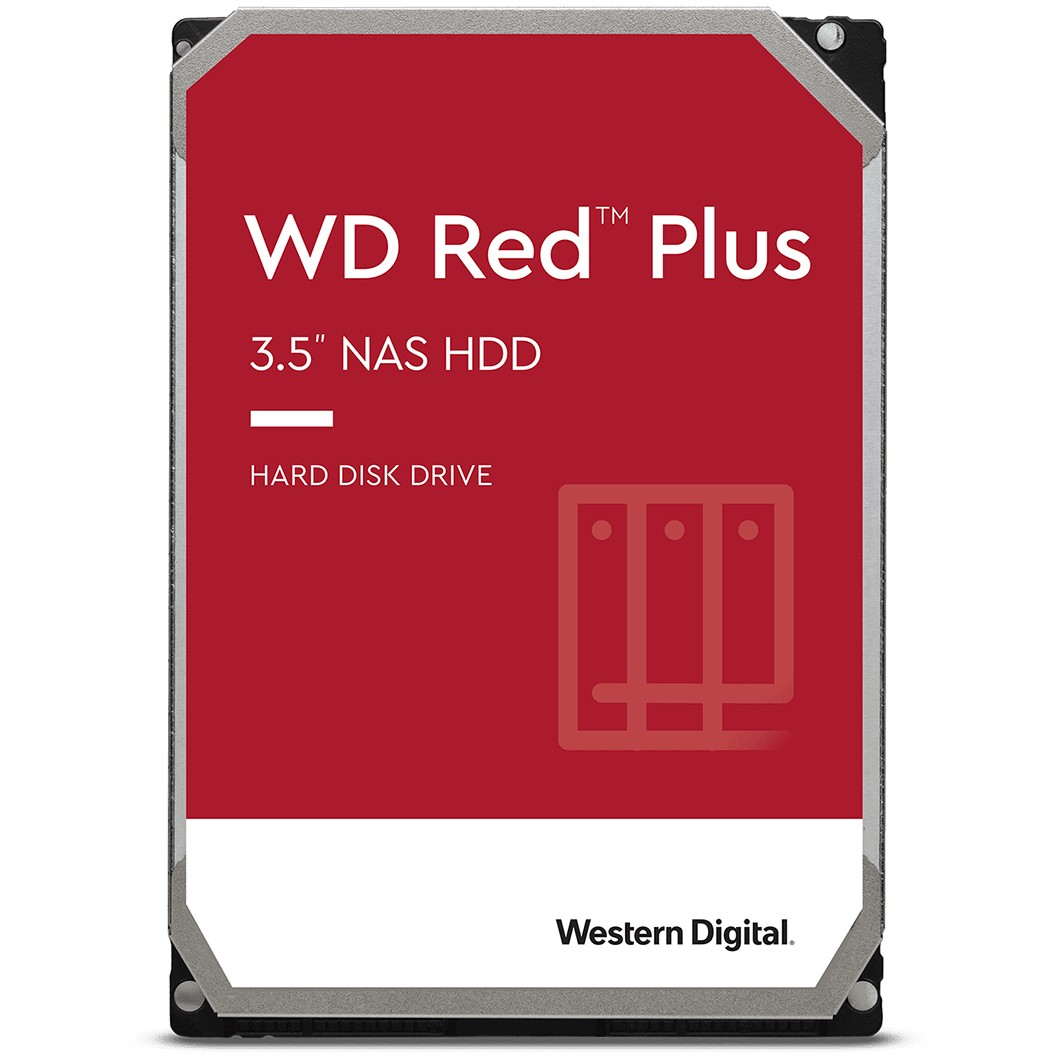 WD Red Plus 4TB SATAIII 5400RPM 3.5″ -kiintolevy