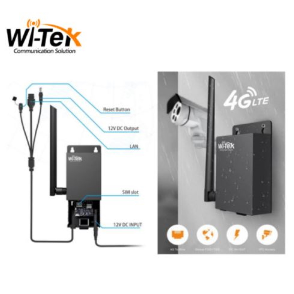 Wi-Tek WI-LTE115-O 4G LTE reititin ulkokäyttöön