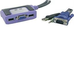 ATEN KVM-kytkin VGA, USB ja ääni
